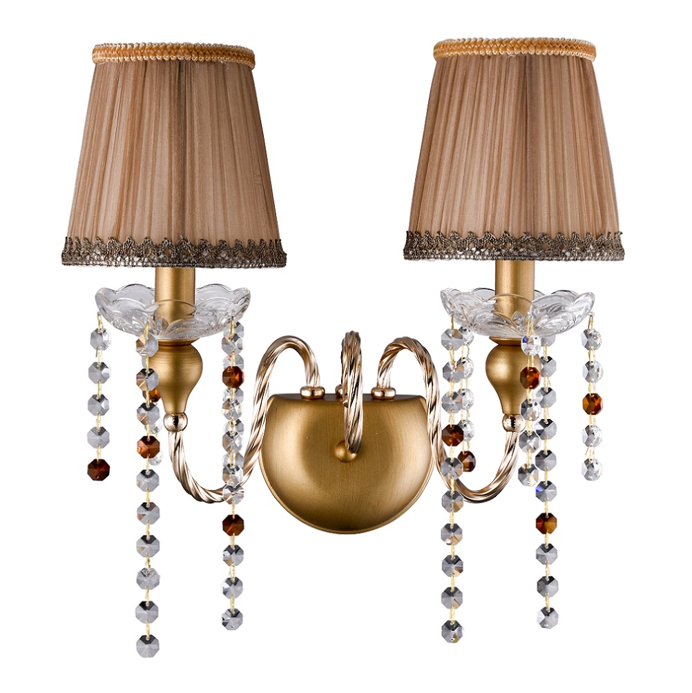 CRYSTAL LUX, Бра ALEGRIA AP2 GOLD-BROWN