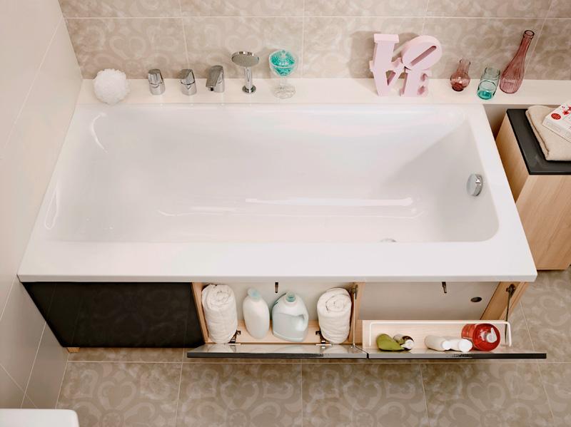 Экран для ванны с дверцами