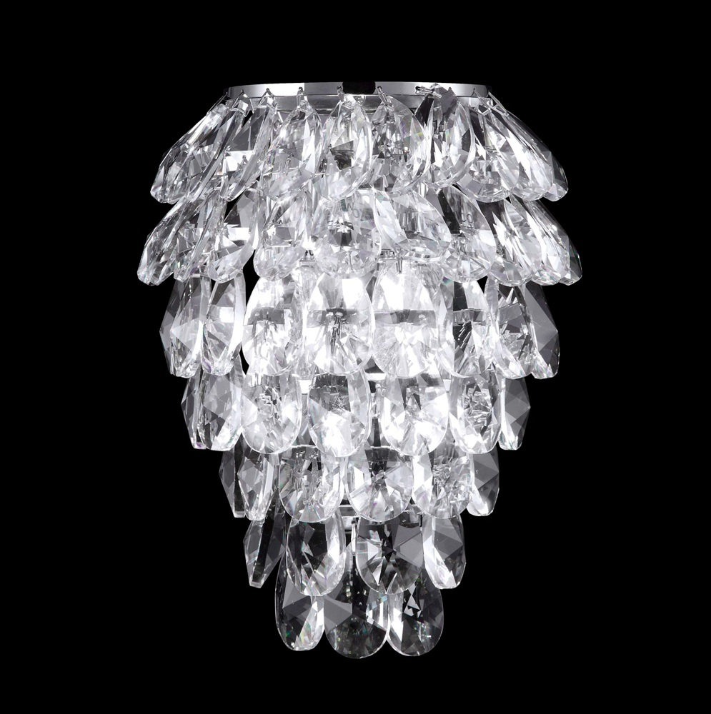 CRYSTAL LUX, Бра CHARME AP2+2 LED CHROME/TRANSPARENT