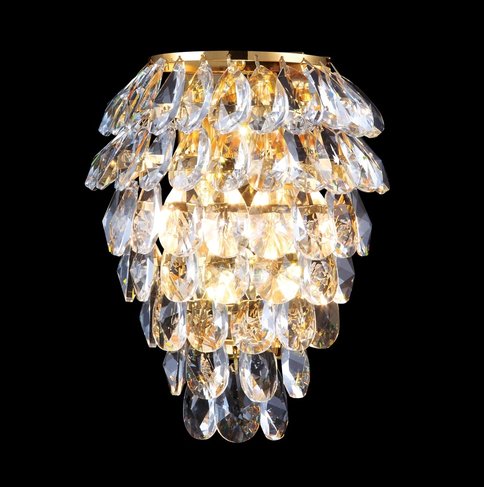 CRYSTAL LUX, Бра CHARME AP2+2 LED GOLD/TRANSPARENT