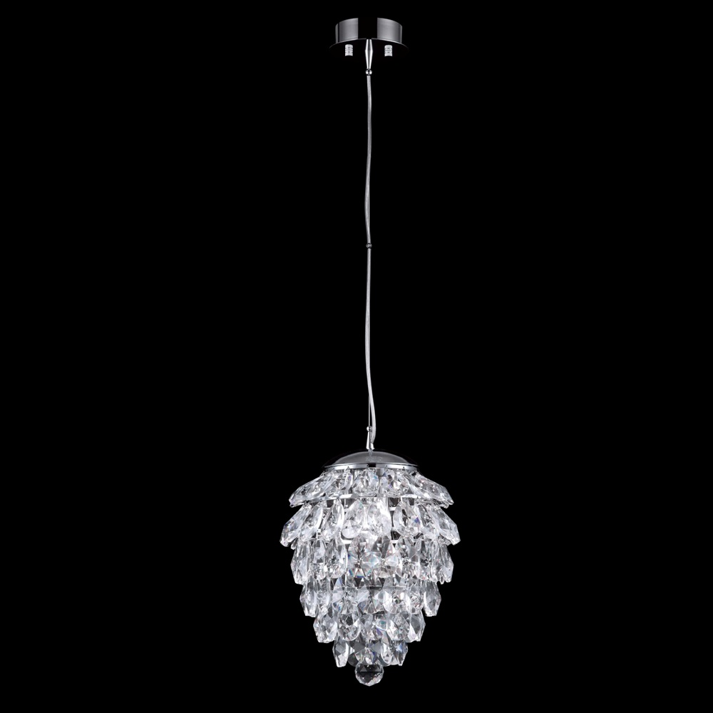 CRYSTAL LUX, Светильник подвесной CHARME SP1+1 LED CHROME/TRANSPARENT
