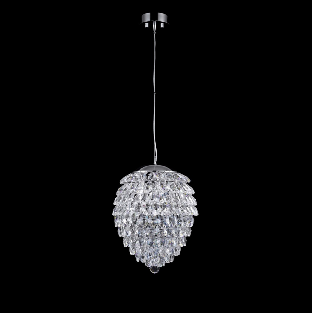 CRYSTAL LUX, Светильник подвесной CHARME SP2+2 LED CHROME/TRANSPARENT